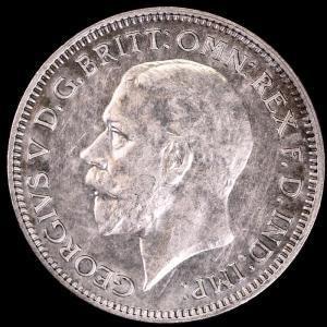 イギリス ジョージ5世 1935年 6ペンス銀貨|lunatrading