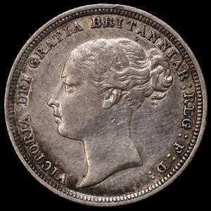 イギリス ヴィクトリア(ビクトリア) 1885年 6ペンス銀貨|lunatrading