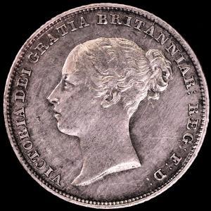 イギリス ヴィクトリア(ビクトリア) 1853年 6ペンス銀貨|lunatrading
