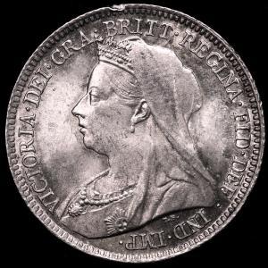 イギリス ヴィクトリア(ビクトリア) 1887年 6ペンス銀貨|lunatrading