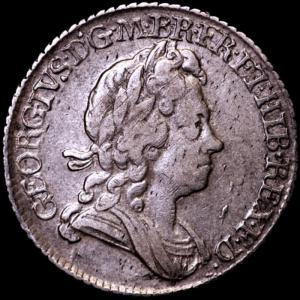イギリス ジョージ1世 1723年 6ペンス銀貨|lunatrading