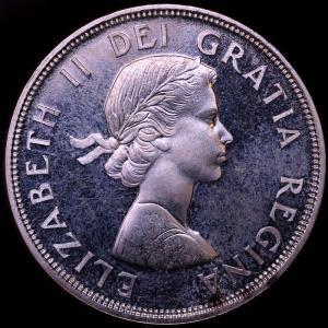 カナダ エリザベス2世 1964年 1ドル 銀貨 シャーロットタウン会議100周年記念