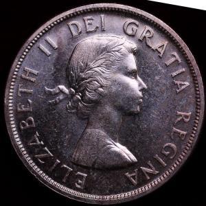 カナダ エリザベス2世 1958年 1ドル 大型銀貨 トーテムポール