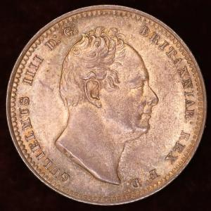イギリス ウィリアム4世 1836年 シリング銀貨|lunatrading