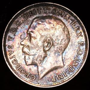 イギリス ジョージ5世 1918年 3ペンス銀貨|lunatrading