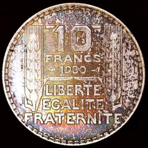 フランス 1930年 10フラン銀貨|lunatrading