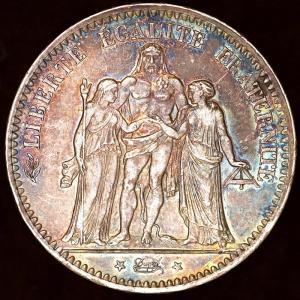 フランス 1875年 5フラン銀貨|lunatrading