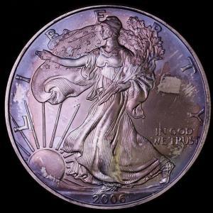 アメリカ 2006年 イーグル ウォーキングリバティ 1ドル純銀貨|lunatrading