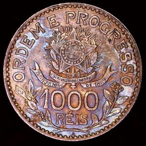 ブラジル 1913年 1000レイス銀貨|lunatrading