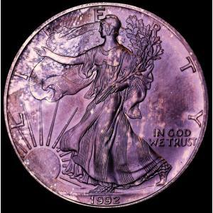 アメリカ 1992年 イーグル ウォーキングリバティ 1ドル純銀貨|lunatrading