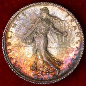 フランス 1919年 1フラン銀貨|lunatrading