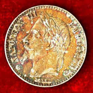 フランス 1865年 50サンチーム銀貨|lunatrading