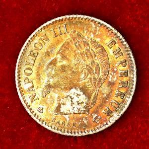 フランス 1867年 20サンチーム銀貨|lunatrading