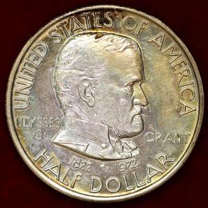 アメリカ 1922年 ハーフダラー グラントン将軍 記念銀貨|lunatrading
