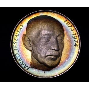チェコスロバキア 50コルナ プルーフ 銀貨 1974年銘 イェセンスキ生誕100周年 lunatrading