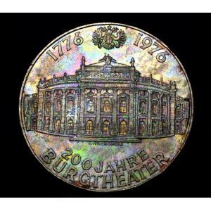 オーストリア 100シリング 大型 銀貨 ブルク劇場建立200周年記念 lunatrading