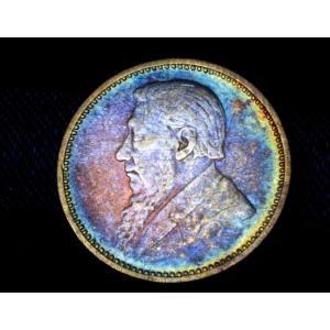 南アフリカ 3ペンス銀貨 1893年銘 往年のスーパートーン 願掛けにも lunatrading