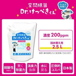 次亜塩素酸水 空間除菌 Dr.けっぺきくん PRO 200PPM 2.3l|lune-shop