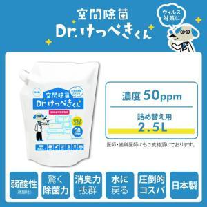 次亜塩素酸水 空間除菌 Dr.けっぺきくん 2.3l【送料無料】|lune-shop