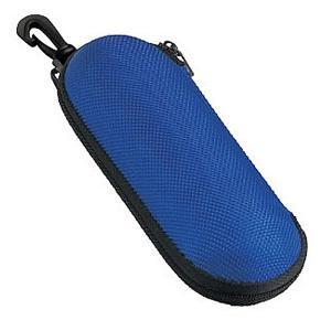 【送料無料】メガネケース ウレタン セミ ハードケース ラウンド (ファスナー式 フック付き) ブルー 2899-03 lune-shop