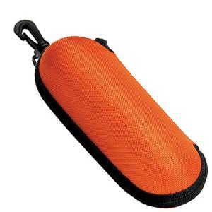 【送料無料】メガネケース ウレタン セミ ハードケース ラウンド (ファスナー式 フック付き) オレンジ 2899-04 lune-shop