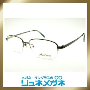 【家メガネ】ナイロール ANDREW-SADL200-3(度入りレンズ+メガネ拭き+布ケース付)