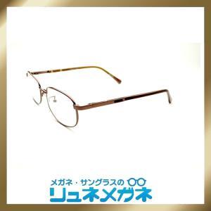 【家メガネ】メタルフレーム Luner-J12601-001(度入りレンズ+メガネ拭き+布ケース付)