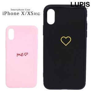 iphoneケース iPhoneXS iphoneX ソフトケース ハート かわいい 大人っぽい|lupis