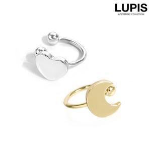イヤーカフ シンプル ハート ゴールド シルバー イヤーカフス 簡単装着|lupis