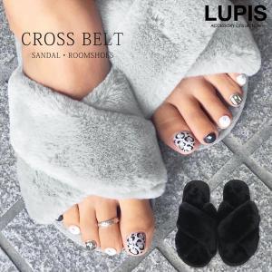 サンダル レディース スリッパ ファー フラット ルームシューズ LUPIS ルピス|lupis