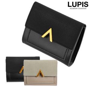 財布 レディース 三つ折り ミニ財布 コンパクト 小さめ フェイクレザー