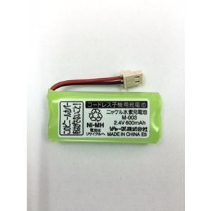 SHARP純正パーツ 電話機・ファクシミリ用 充電池(子機用) 1429320086 M-003の画像