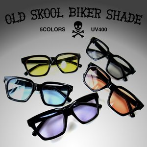 オールドスクール バイカー サングラス 全5色 大きめ 眼鏡 カラーレンズ  アクセサリー 小物 lupo