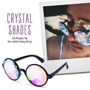 メール便 送料無料 クリスタル サングラス  / 丸型  伊達 眼鏡 アクセサリー 小物 プリズム 万華鏡 フォトジェニック lupo