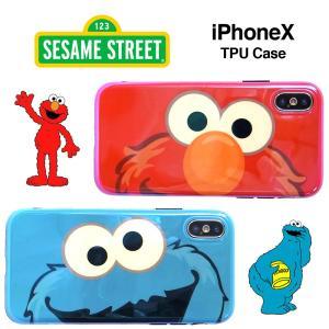 セサミストリートの人気キャラクター エルモ & クッキーモンスターのiPhoneX / iP...