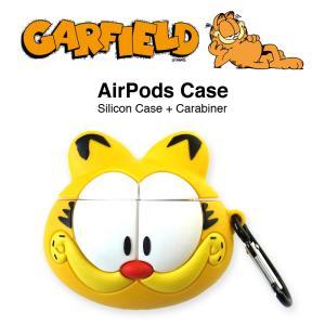ガーフィールド AirPods シリコン ケース エアポッド カバー Garfield ワイヤレス ...