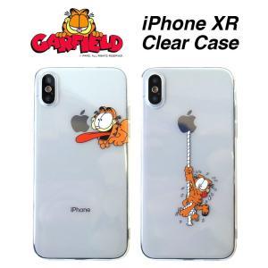 ガーフィールド iPhoneXR クリアケース Garfield キャラクター アイフォン ケース|lupo