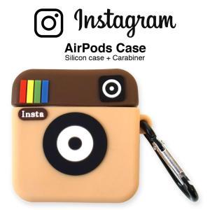 インスタグラム AirPods シリコン ケース エアポッド カバー instagram ワイヤレス...