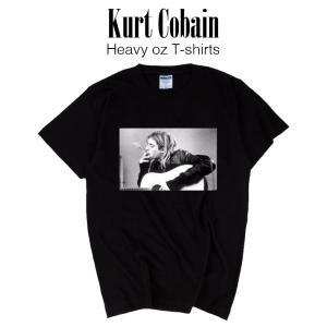 カートコバーン ヘヴィーウェイト Tシャツ (ギター)/ Nirvana ニルヴァーナ ロックT バンドT フォトT Tシャツ ティーシャツ lupo