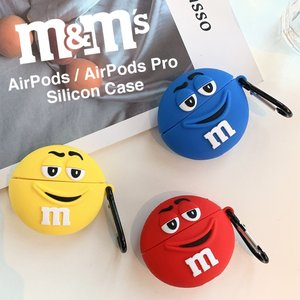 M&Ms  AirPods AirPodsPro シリコン ケース カラビナ付き エアポッズ エムア...
