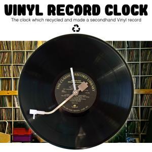 アナログ レコード  Vinyl  時計  12インチ LP   リサイクル 壁掛け時計 ウォールクロック デザイナーズ 家具 インテリア アート 音楽 DJ|lupo