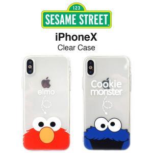 セサミストリートのiPhoneX / iPhoneXs 対応ソフトケース。 エルモ & クッ...