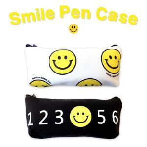 スマイル ペンケース 2種  smile スマイリー ニコちゃん 筆箱 小物入れ ポーチ 文房具 ケース|lupo