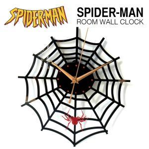 スパイダーマン デザイン ウォールクロック  SPIDER MAN マーベル ヒーロー キャラクター 壁掛け時計  インテリア 雑貨 デザイナーズ 家具 映画|lupo