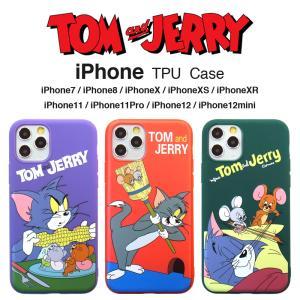 トムとジェリー iPhoneX iPhoneXs TPU カラー ケース  アイフォンケース|lupo