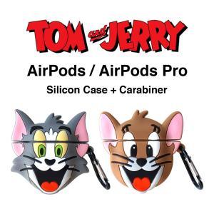 トムとジェリー AirPods シリコン ケース エアポッド カバー ワイヤレス イヤホン ヘッドホ...