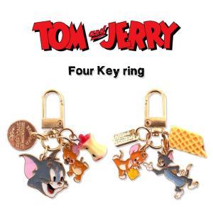 トムとジェリー 4蓮チャーム キーホルダー キーリング アクセサリー ファッション小物