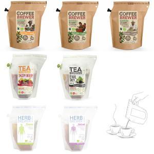 ブリュワーシリーズ 3種7点 お試しセット Coffee Brewer TEA BREWER HERB BREWER コーヒー 紅茶 ハーブティー フレーバーティー オーガニック 有機JAS|luruspot