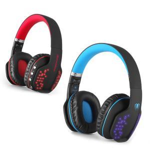 ゲーミングヘッドセットPS4 無線と有線両用 Bluetooth 4.1 ヘッドフォン 折りたたみ ...