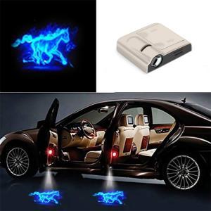 プロジェクター カーテシーランプ 車用 LED プロジェクター 車 パーツ アクセサリー レーザーライト ドアアンダー lush-intl